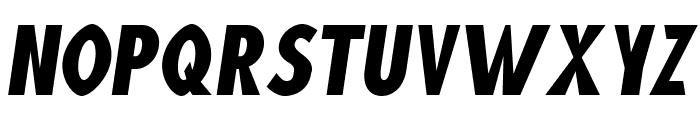 Blink Oblique Font UPPERCASE