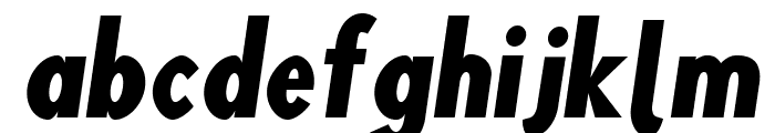Blink Oblique Font LOWERCASE