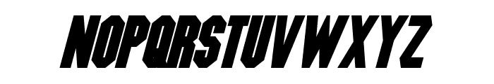 Blitzwing Bold Italic Font UPPERCASE