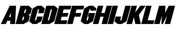 Blitzwing Expanded Bold Italic Font LOWERCASE