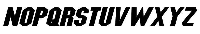 Blitzwing Expanded Italic Font LOWERCASE