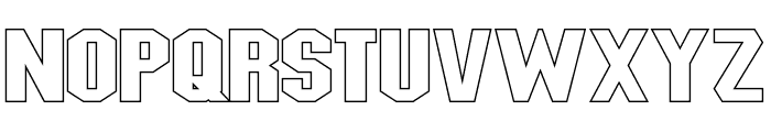 Blitzwing Extended Hollow Font LOWERCASE
