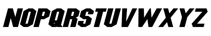 Blitzwing Extended Italic Font UPPERCASE