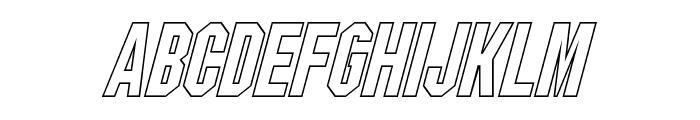 Blitzwing Hollow Italic Font UPPERCASE