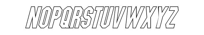 Blitzwing Hollow Italic Font LOWERCASE