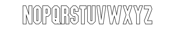 Blitzwing Hollow Font LOWERCASE