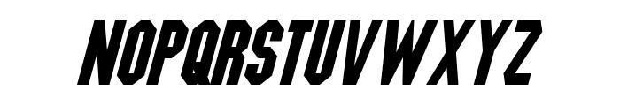 Blitzwing Italic Font LOWERCASE