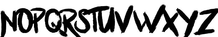 BllodyRainan Font UPPERCASE