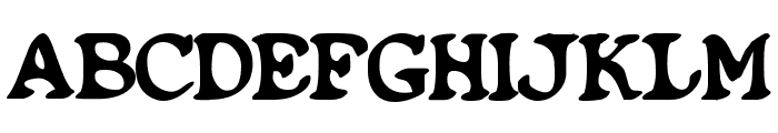 Blobfont G98 Font UPPERCASE