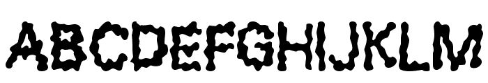 Blobs Font LOWERCASE