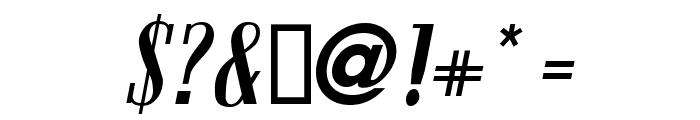 Bloc Kursiv Font OTHER CHARS