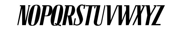 Bloc Kursiv Font UPPERCASE
