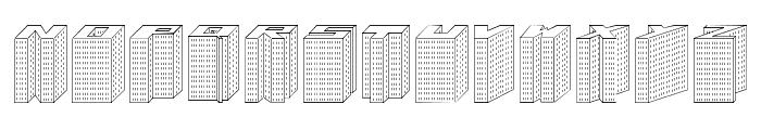 Block 1900 Font UPPERCASE