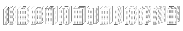 Block 1900 Font LOWERCASE