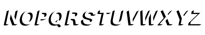 Block Shadow Bold Italic Font UPPERCASE