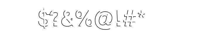 Block Shadow Regular Font OTHER CHARS