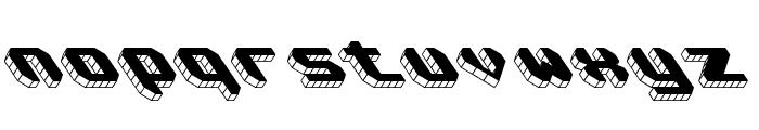 Block Tilt BRK Font LOWERCASE