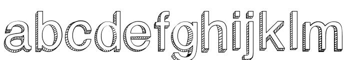 BlockBasic Font LOWERCASE