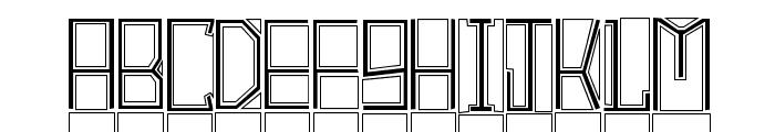 BlockTitling Outline Font UPPERCASE