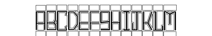 BlockTitling Outline Font LOWERCASE