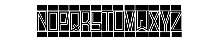BlockTitling Standard Font LOWERCASE