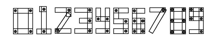 Blocks N Bolts Regular Font OTHER CHARS