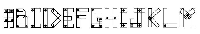 Blocks N Bolts Regular Font UPPERCASE