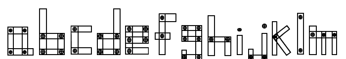 Blocks N Bolts Regular Font LOWERCASE