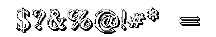 Blockstepped 3D Font OTHER CHARS