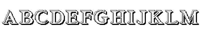 Blockstepped 3D Font UPPERCASE