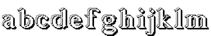 Blockstepped 3D Font LOWERCASE