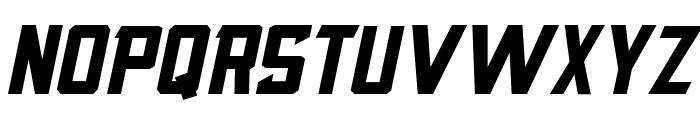 Blocktastic-Italic Font UPPERCASE
