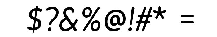 Blogger Sans Italic Font OTHER CHARS