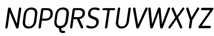 Blogger Sans Italic Font UPPERCASE
