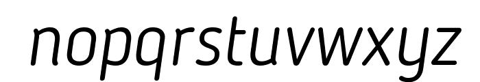 Blogger Sans Light Italic Font LOWERCASE