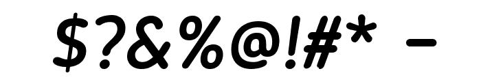 Blogger Sans Medium Italic Font OTHER CHARS