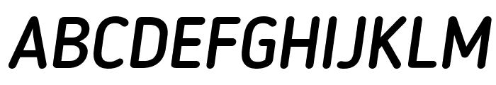 Blogger Sans Medium Italic Font UPPERCASE