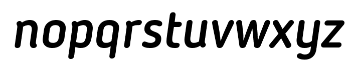 Blogger Sans Medium Italic Font LOWERCASE