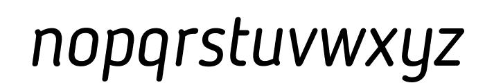 BloggerSans-Italic Font LOWERCASE
