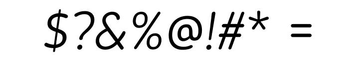 BloggerSans-LightItalic Font OTHER CHARS