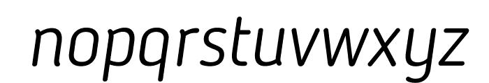BloggerSans-LightItalic Font LOWERCASE