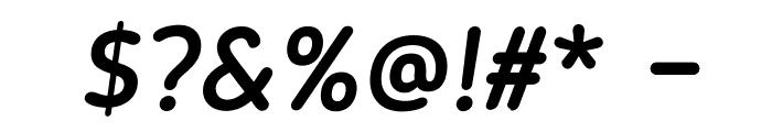 BloggerSans-MediumItalic Font OTHER CHARS