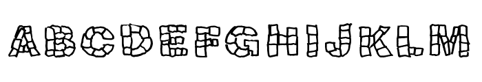 Blokqued Font UPPERCASE