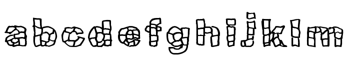 Blokqued Font LOWERCASE