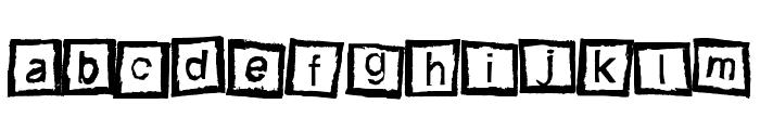 Bloktype Font LOWERCASE
