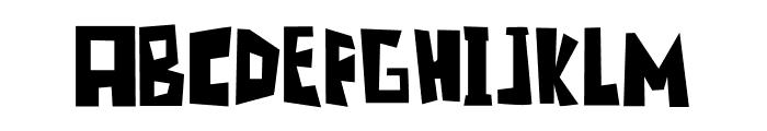 Blonkster Font UPPERCASE