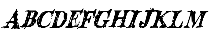 Blood Crow Condensed Italic Font UPPERCASE