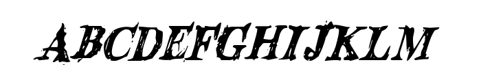 Blood Crow Condensed Italic Font LOWERCASE
