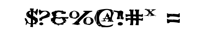 Blood Crow Expanded Font OTHER CHARS