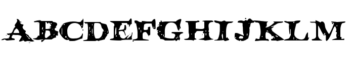 Blood Crow Expanded Font LOWERCASE